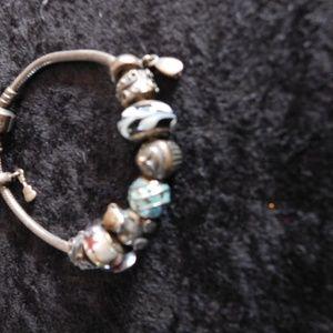 Pandora Bracelet with several charms!